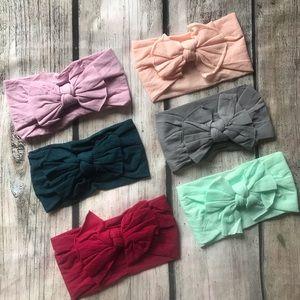 Other - Brand New 6 Soft Nylon Baby Girl Headbands